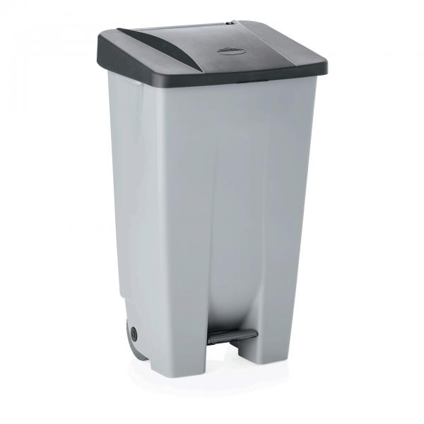 Tretabfallbehälter mit schwarzem Deckel, 120 ltr., Polyethylen