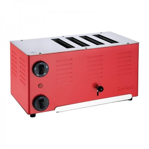 Rowlett Regent Toaster 4ATTR-131 - 4 Schlitze rot
