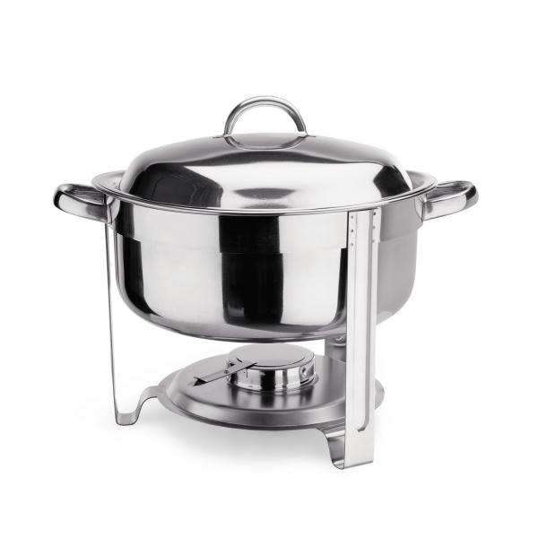 Suppen Chafing Dish, 7,5 ltr. Mit Brennpastenbehälter und rundem Speiseeinsatz
