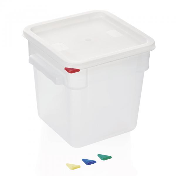 Vorratsbehälter mit Deckel, 8,0 ltr., 22,5 x 22,5 x 23 cm, Polypropylen