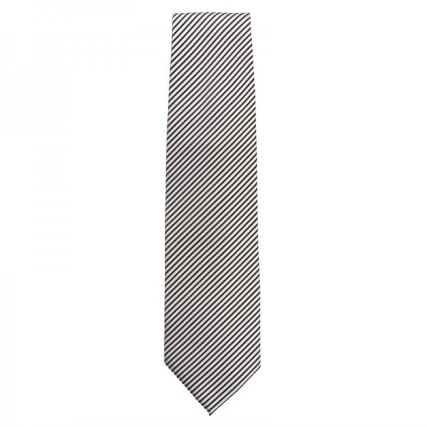 Uniform Works Krawatte silber-schwarz gestreift
