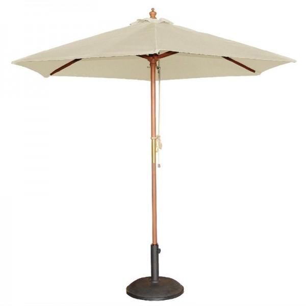 Bolero runder Sonnenschirm creme 2,5m