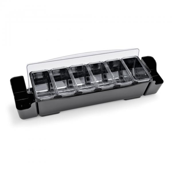 Zutatenbehälter mit sechs Einsätzen á 0,7 ltr., ABS Kunststoff/Polycarbonat