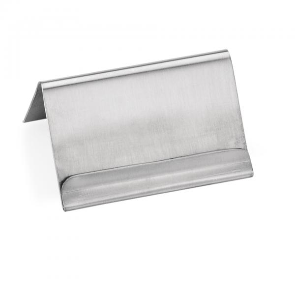 Kartenhalter mit Falz, 6 x 4,5 x 3,5 cm, Chromnickelstahl