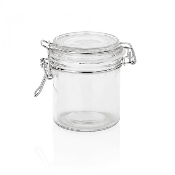Bügelverschlussglas mit Deckel, 0,30 ltr., Ø 8 cm, Glas