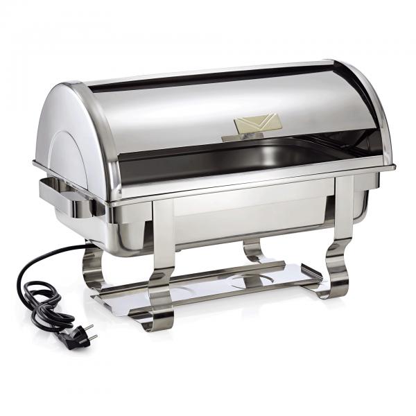 Elektro Chafing Dish GN 1/1 mit Roll Top Deckel, 61 x 35 x 45 cm, Chromnickelstahl