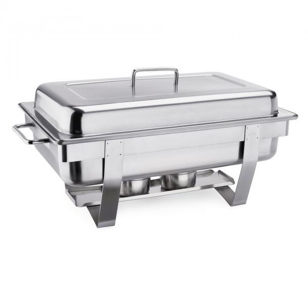 Chafing Dish GN 1/1 mit Edelstahlgriffen, 61 x 35 x 35 cm Chromnickelstahl