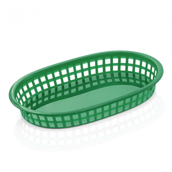 Tischkorb, 27 x 18 x 4 cm, grün, Polyethylen