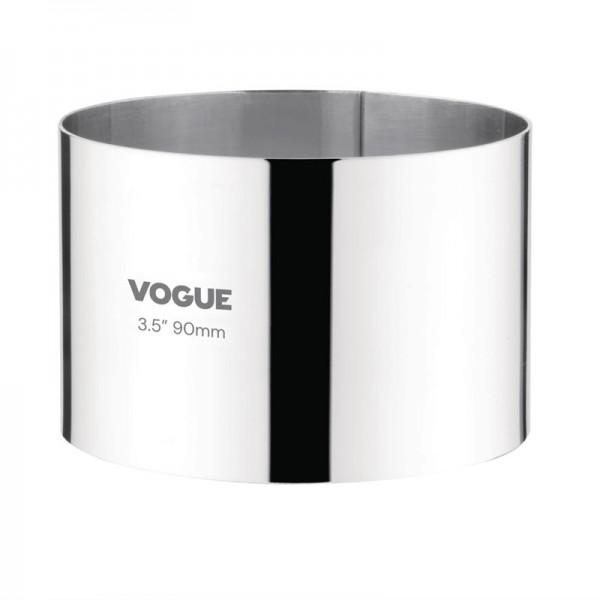 Vogue Moussering Edelstahl 6 x 9cm
