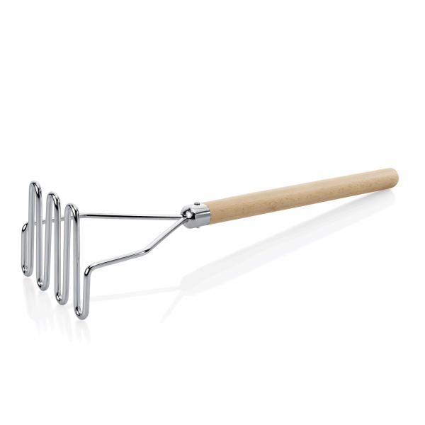 Kartoffelstampfer mit Holzgriff, 64 cm, Chromnickelstahl