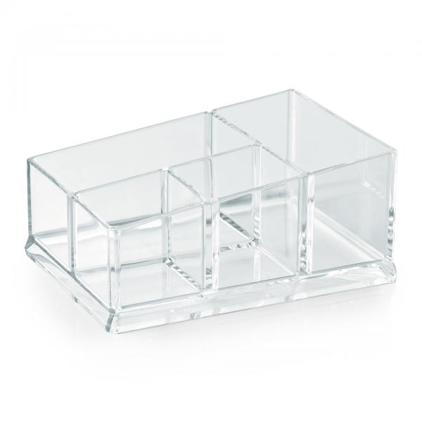 Box mit vier Einteilungen, 19,5 x 14 cm, Acryl