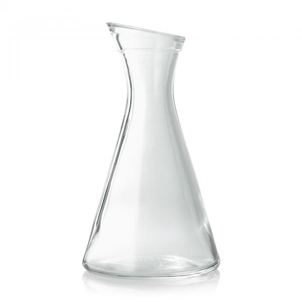 Schräghalskaraffe, 1,00 ltr., Glas