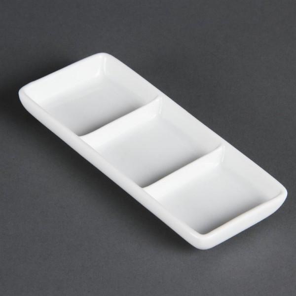 Olympia Whiteware dreifache Präsentierschalen 12 Stück