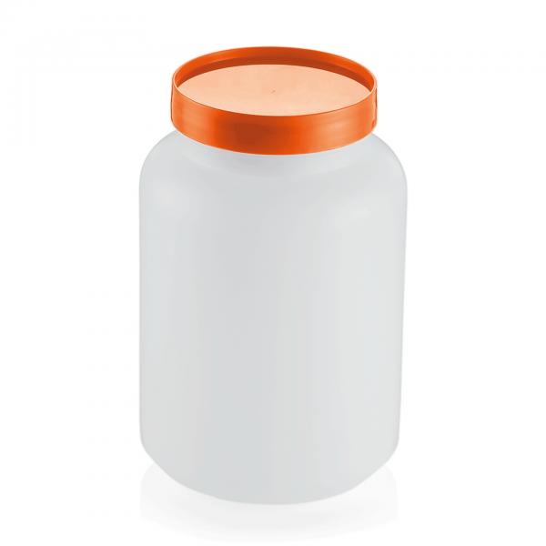 Vorratsbehälter, 2-teilig, 2,0 ltr., orange, Polypropylen