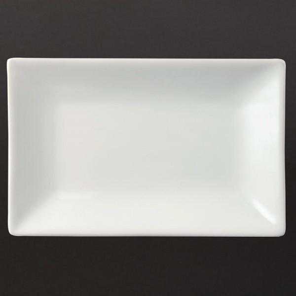 Olympia Whiteware rechteckige Servierteller 20 x 13cm 6 Stück