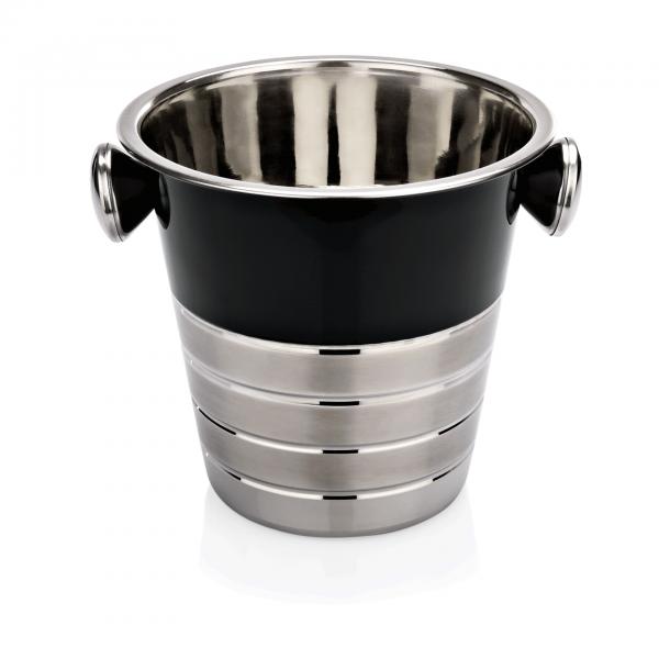 Flaschenkühler mit schwarzer Pulverbeschichtung, Ø 21,5 cm, Chromnickelstahl