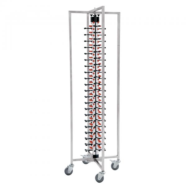 Tellerstapelsystem für 84 Teller, 65 x 59 x 190 cm