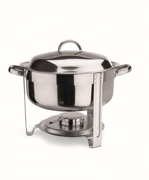 Suppen Chafing Dish, 13,5 ltr. mit Brennpastenbehälter und rundem Speiseeinsatz