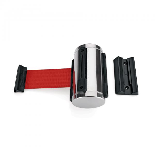 Gurtband Highflex für Wandmontage, 2 m, rot, inkl. Wandhalter