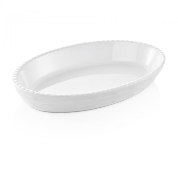 Backform, 42 x 25,5 x 5 cm, weiß, Porzellan