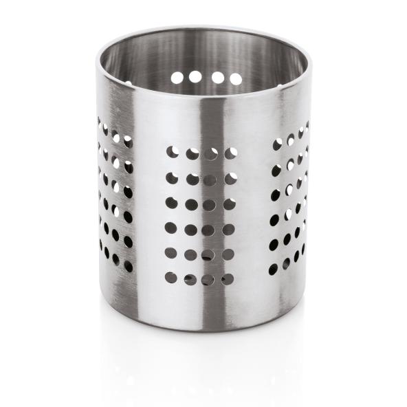 Küchenutensilien-Halter, Ø 10 cm, Höhe 12 cm, perforiert, Chromnickelstahl