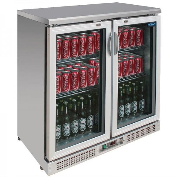 Polar Serie G Barkühlschrank Edelstahl 180 Flaschen