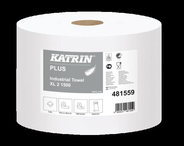 Katrin Plus XL 2 1500 2 Lagig 26.5 x 38 cm 570 m weiss /2 Rollen