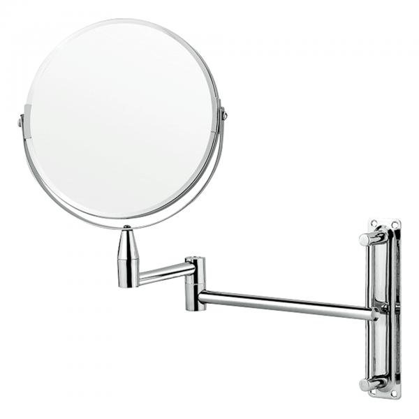 Kosmetikspiegel zur Wandmontage, Ø 20 cm, verchromt