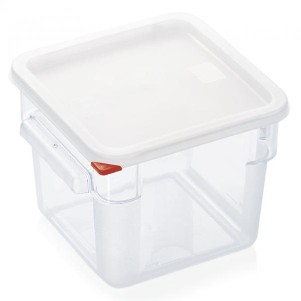 Vorratsbehälter mit Deckel, 6,0 ltr., 22,5 x 22,5 x 19 cm, Polycarbonat