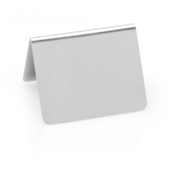 Tischschild ohne Aufdruck, 5 x 4,5 x 4,5 cm, Chromnickelstahl
