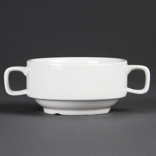 Olympia Whiteware Suppentassen mit Henkeln 40cl 6 Stück