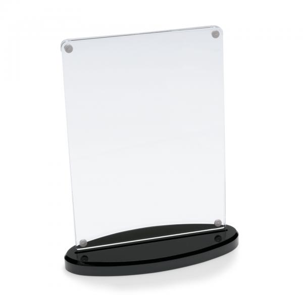 Kartenhalter, 14 x 5,5 x 18,5 cm, Acryl