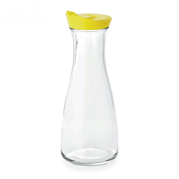 Karaffe mit Deckel, 1,0 ltr., gelb, Glas