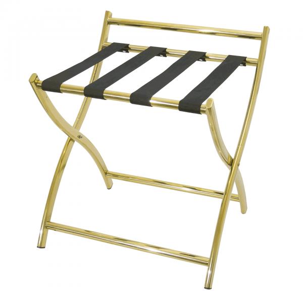 Gepäckablage mit Wandschutz, 50 x 48 x 54 cm, goldfarben, Chromnickelstahl