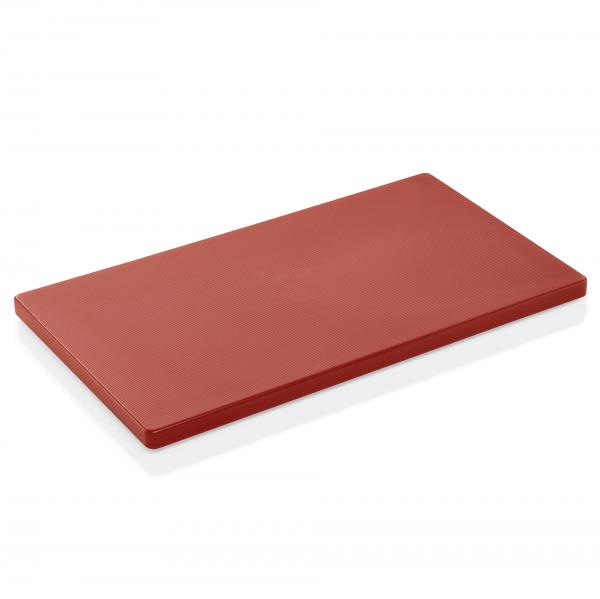 Schneidbrett HACCP, 50 x 30 x 2 cm, rot, Polyethylen