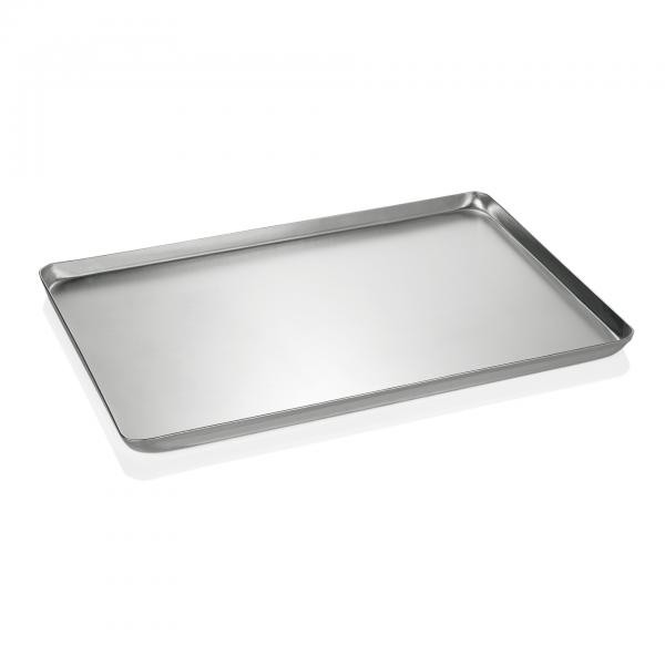 Backblech/Ausstellblech, gebeizt, 48 x 32 x 2 cm, Aluminium