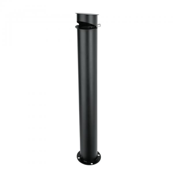 Standascher, Ø 12 cm, Höhe 90 cm, Stahl pulverbeschichtet
