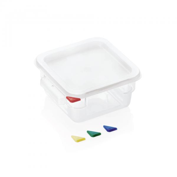 Vorratsbehälter mit Deckel, 4,0 ltr., 18,0 x 18,0 x 19 cm, Polycarbonat