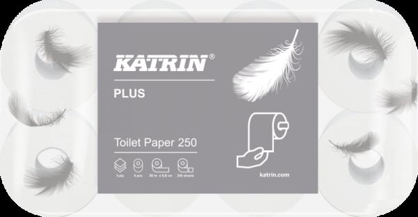 Katrin Plus Toilettenpapier 3 lagig 48x250 Blatt weiss