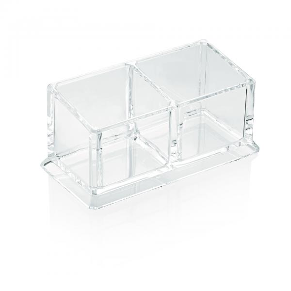 Box mit zwei Einteilungen, 16,6 x 8,2 cm, Acryl