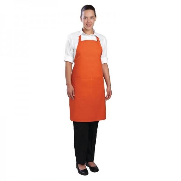Chef Works verstellbare Latzschürze orange