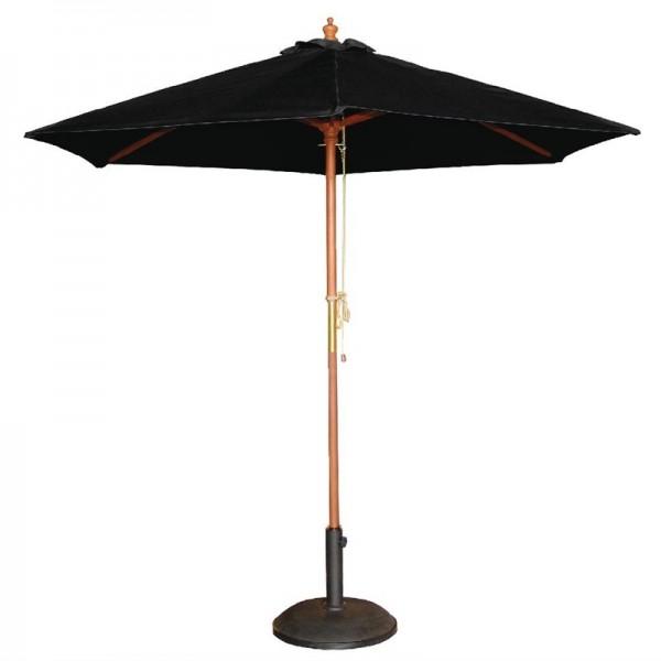 Bolero runder Sonnenschirm schwarz 3m