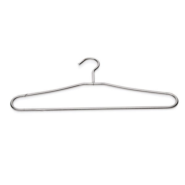 Kleiderbügel mit Steg, 42 x 19,5 cm, Chromnickelstahl