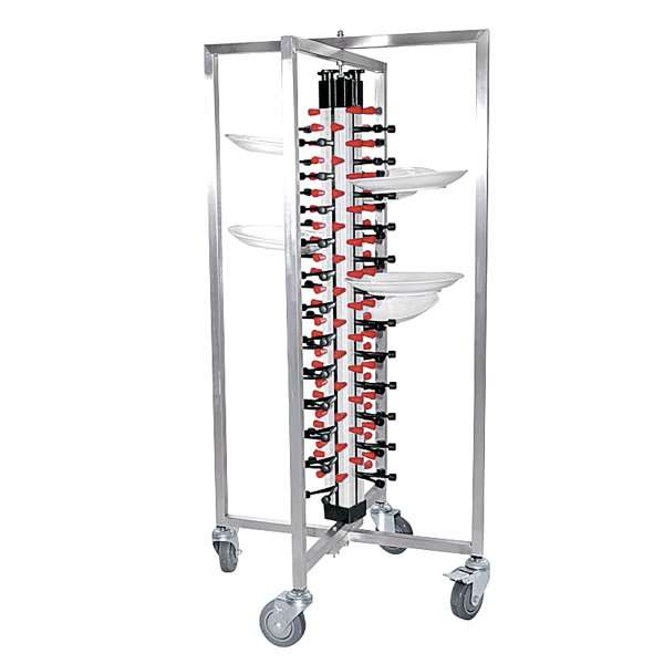 Tellerstapelsystem für 48 Teller, 65 x 59 x 126 cm
