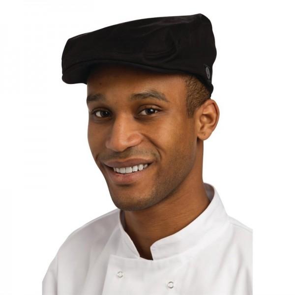 Chef Works Flache Kappe schwarz M