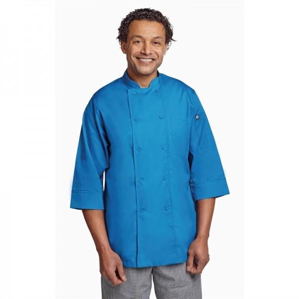 Chef Works Unisex Kochjacke blau L