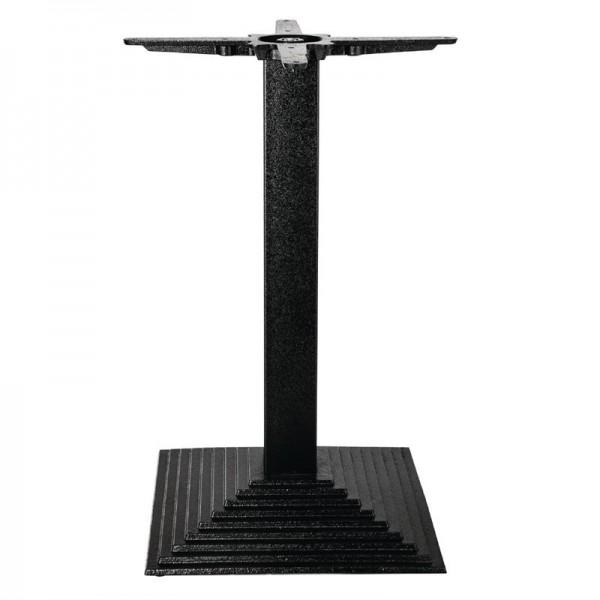 Bolero quadratischer Tischfuß mit Stufen Gusseisen 72cm hoch