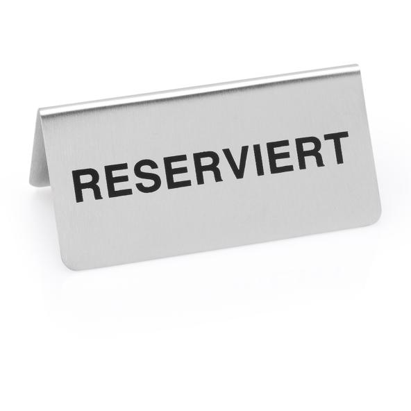 Reserviertschild, 10 x 5 x 5 cm, Chromnickelstahl