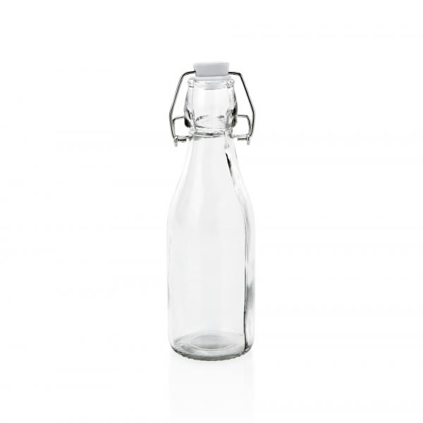 Bügelverschlussflasche mit Deckel, 0,25 ltr., Ø 5, Glas