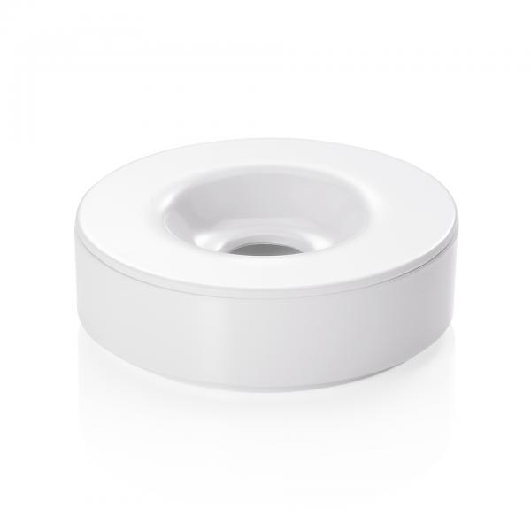 Windaschenbecher, Ø 10 cm, weiß, Melamin